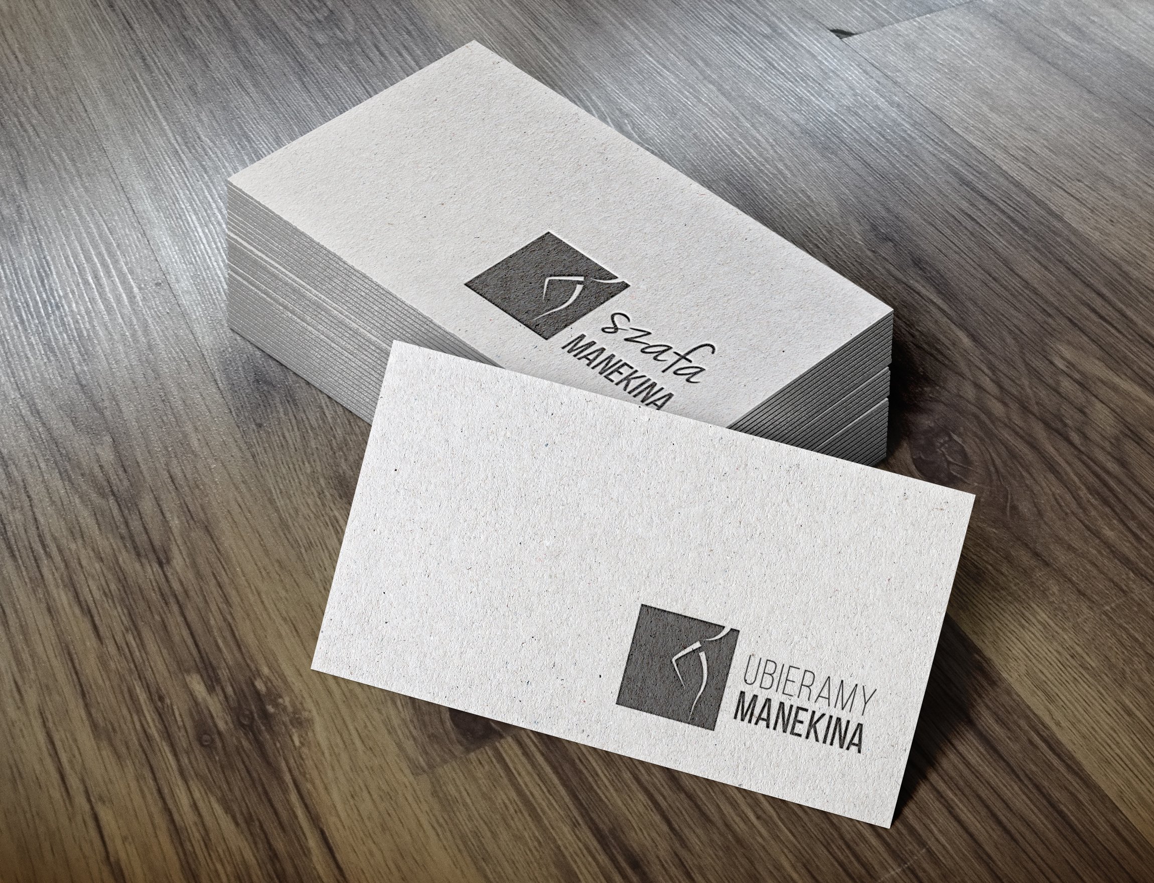 Letterpress Business Cards MockUp-um