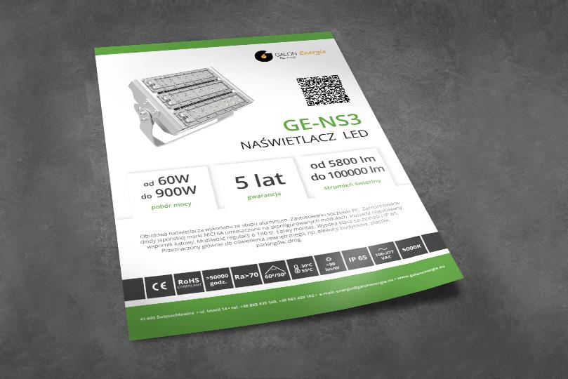 Galon Energia – materiały reklamowe