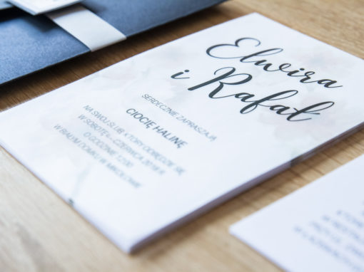 Zaproszenia ślubne E+R